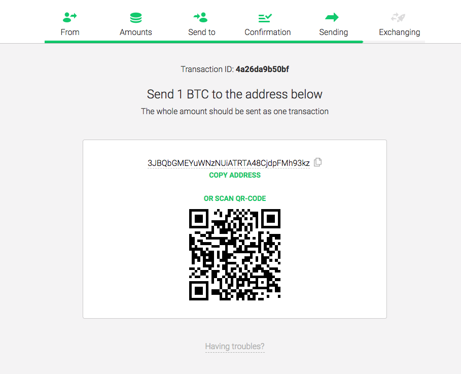 Exchange comparer changelly step 5